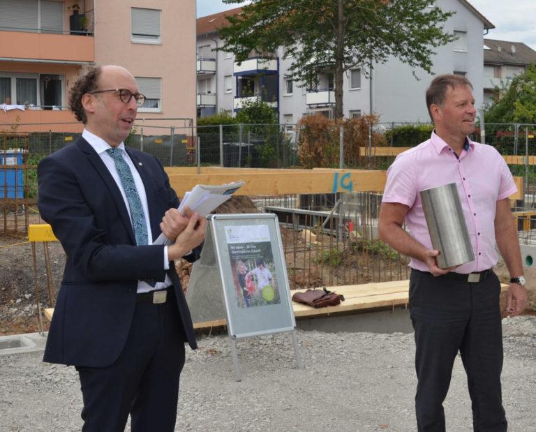 Grundsteinlegung für das neue Wohngebäude der LebensWerkstatt in Bad Friedrichshall