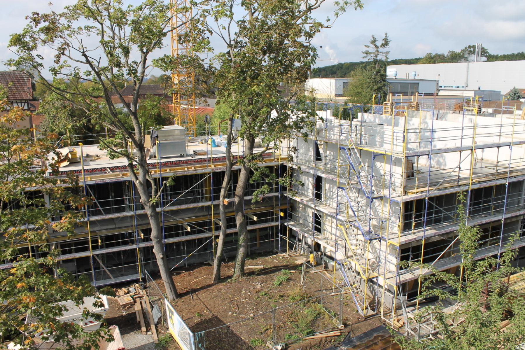 Bauprojekt Bad Friedrichshall: Mehr als die Hälfte des Rohbaus ist fertig
